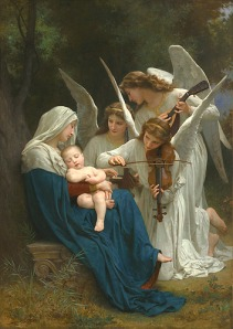 Wish the string section of the Angelic Choir would show up to help put MY baby to sleep!